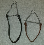 Flat leather Martingale