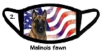Malinois Fawn Patriotic face mask