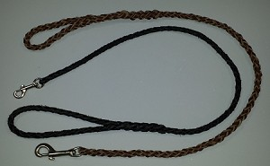 Round braided leash