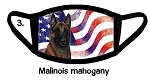 Malinois Mahogany Patriotic face mask