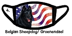 Belgian Sheepdog Patriotic face mask