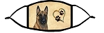 Malinois Fawn Heart face mask