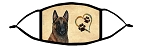 Malinois Mahogany Heart face mask