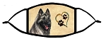 Belgian Tervuren Grey Heart face mask